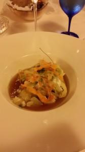 Insalatina di baccalà su marmellata di cipolle di Tropea